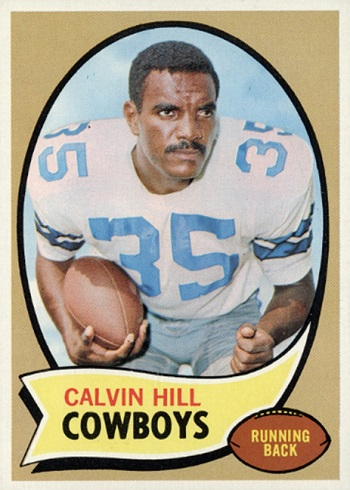 1970 Topps Calvin Hill Red or Black