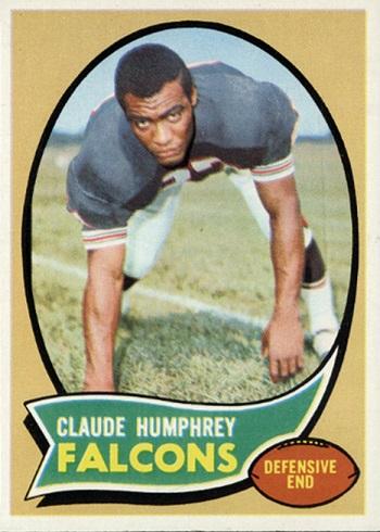 1970 Topps Claude  Humphrey