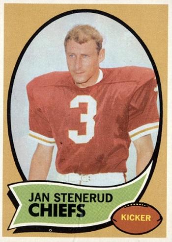 1970 Topps Jan Stenerud