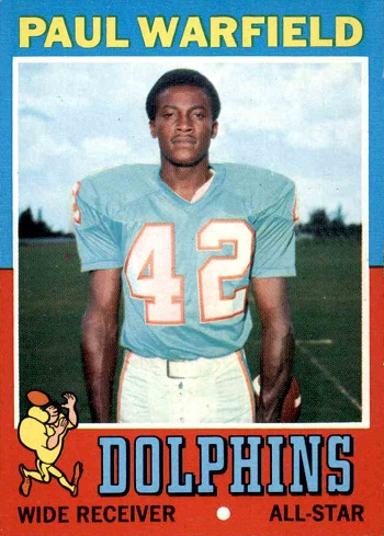 1971 Topps Paul Warfield