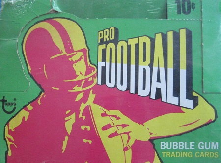1971 topps football cards unopened wax pack box
