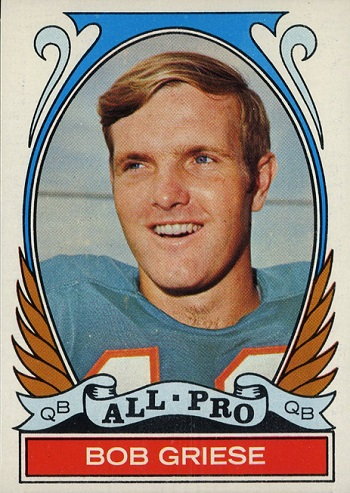 1972 Topps Bob Griese All Pro