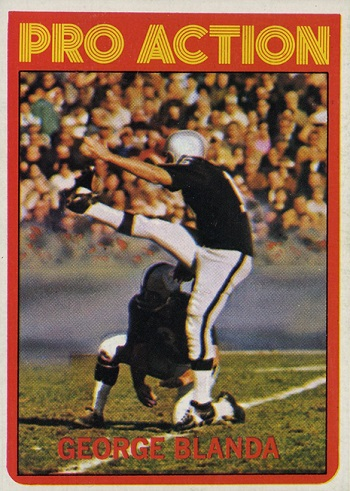 1972 Topps George Blanda In Action