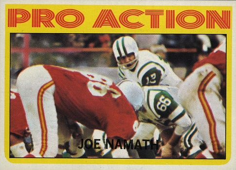 1972 Topps Joe Namath In Action