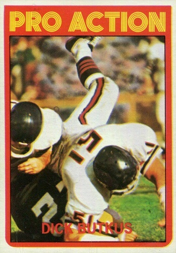 1972 topps dick butkus pro action