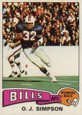 1975 Topps O.J. Simpson