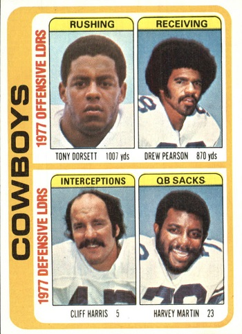 1978 Topps Cowboys Team Leaders (Dorsett)