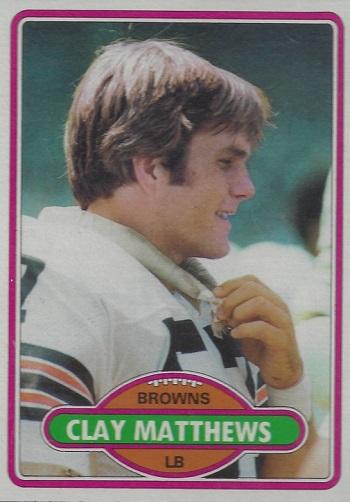 1980 Topps Clay Matthews