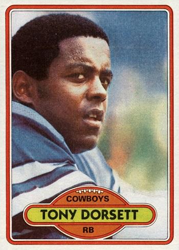 1980 Topps Tony Dorsett