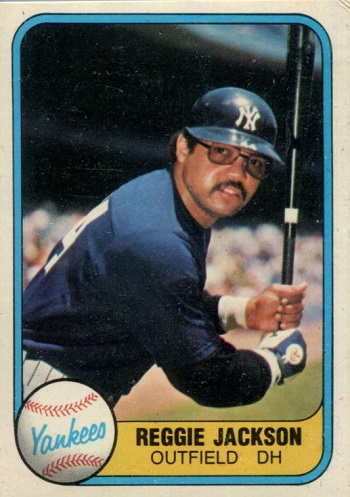 1981 Fleer Reggie Jackson Batting