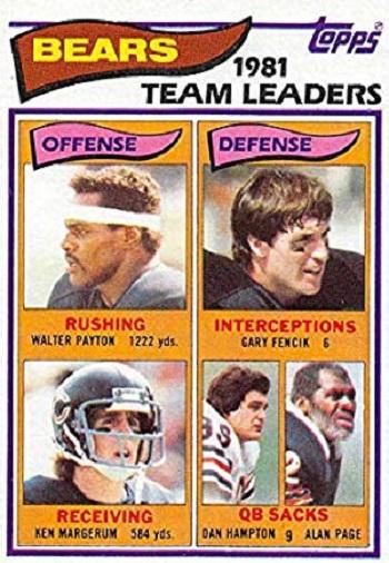 1982 Topps Bears TL (Payton)