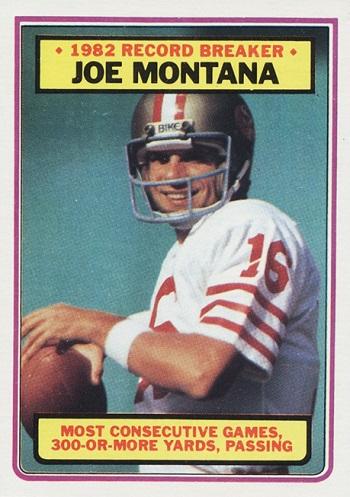 1983 Topps Joe Montana RB