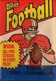 1983 Topps football cards unopened wax pack