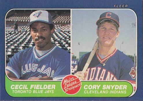 1986 Fleer Cecil  Fielder and Cory  Snyder Rookie Card