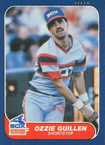 1986 Fleer Ozzie  Guillen Rookie Card
