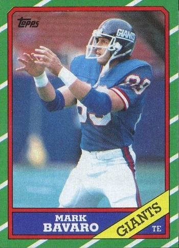 1986 Topps Mark Bavaro