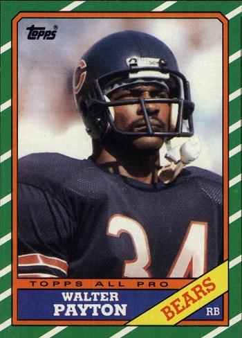 1986 Topps Walter Payton RB