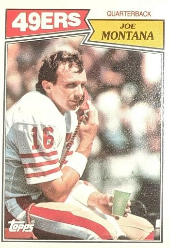 1987 Topps Joe Montana