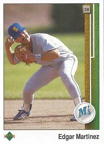 1989 Upper Deck Edgar Martinez Rookie Card
