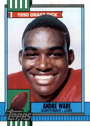 1990 Topps Andre Ware Rookie Card