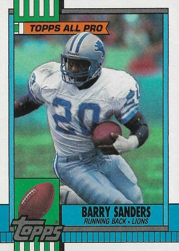 1990 Topps Barry Sanders Rookie Card