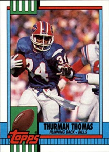 1990 Topps Thurman Thomas Rookie Card