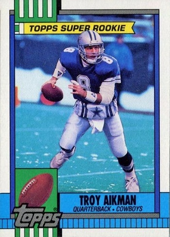 1990 Topps Troy Aikman Super Rookie Card