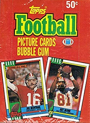 1990 topps football cards wax packs box unopened
