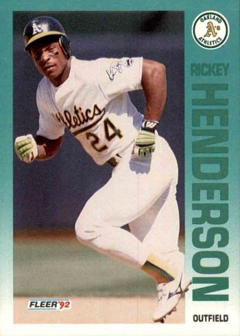 1992 Fleer Rickey Henderson