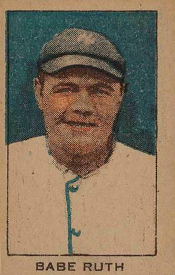 1920 W519-2 Strip Card Babe Ruth -- Unnumbered Hand-cut