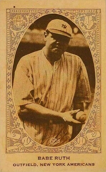 1922 E120 American Caramel Babe Ruth
