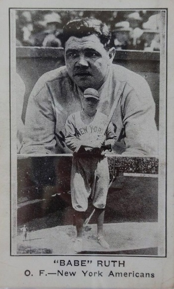 1922 E121 American Caramel Babe Ruth Photo Montage