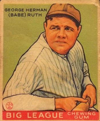 1933 Goudey Babe Ruth (#181)