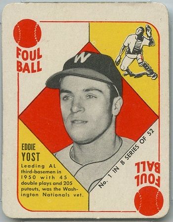 1951 Topps Blue Back Eddie Yost