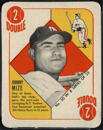 1951 Topps Blue Back Johnny Mize