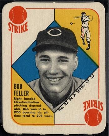 1951 Topps Red Back Bob Feller