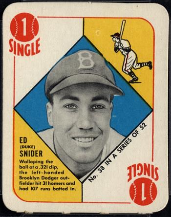 1951 Topps Red Back Duke Snider