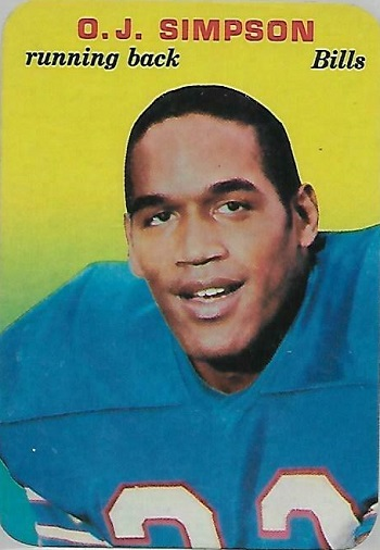 1970 Topps Super Glossy O.J. Simpson (#22)