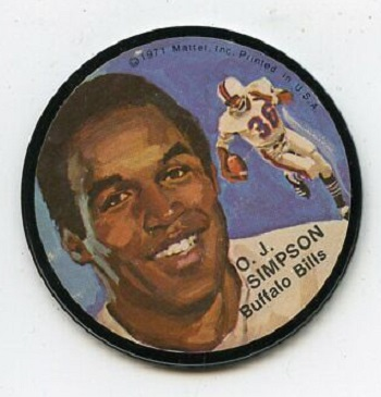 1971 Mattel Instant Replay Records O.J. Simpson