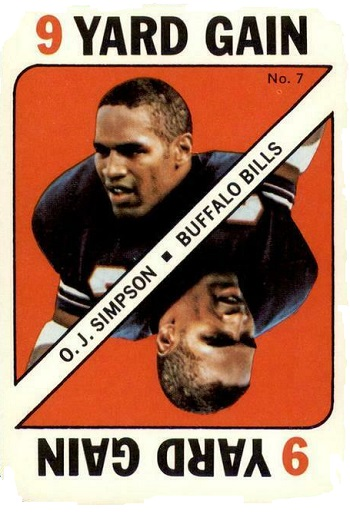 1971 Topps Game Cards O.J. Simpson