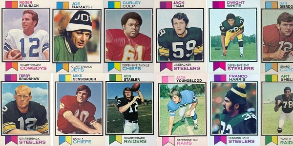 1973 Topps Football Cards 12 Most Valuable Wax Pack Gods