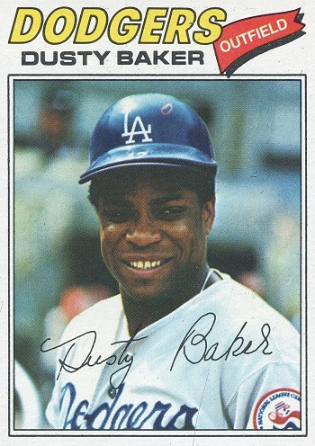 1977 Topps Dusty Baker