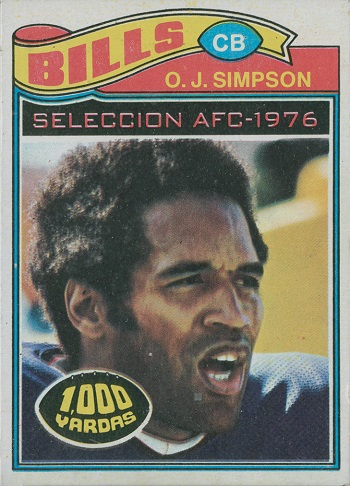 1977 Topps Mexican O.J. Simpson All-Pro