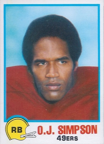 1978 Topps Holsum O.J. Simpson