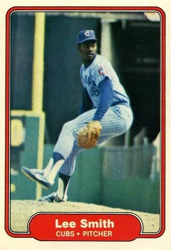 1982 Fleer Lee Smith Rookie Card
