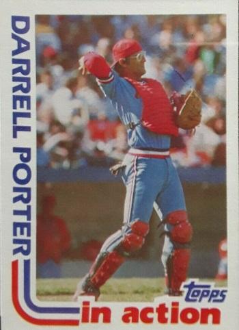 1982 Topps In Action Darrell Porter