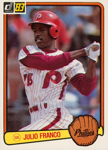 1983 Donruss Julio Franco Rookie Card