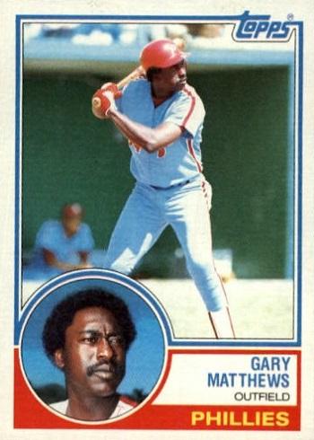 1983 Topps Gary Matthews
