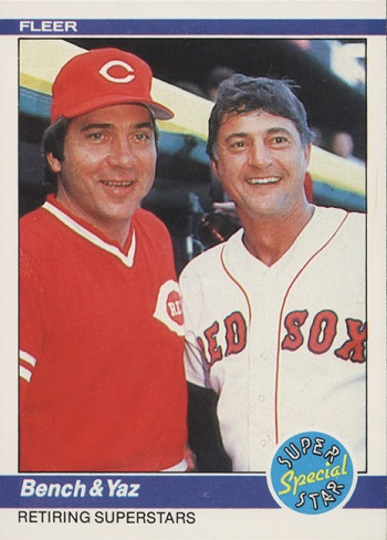 1984 Fleer Bench & Yaz Super Star Special