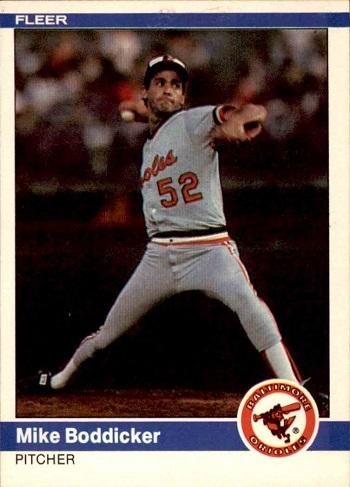 1984 Fleer Mike Boddicker Rookie Card